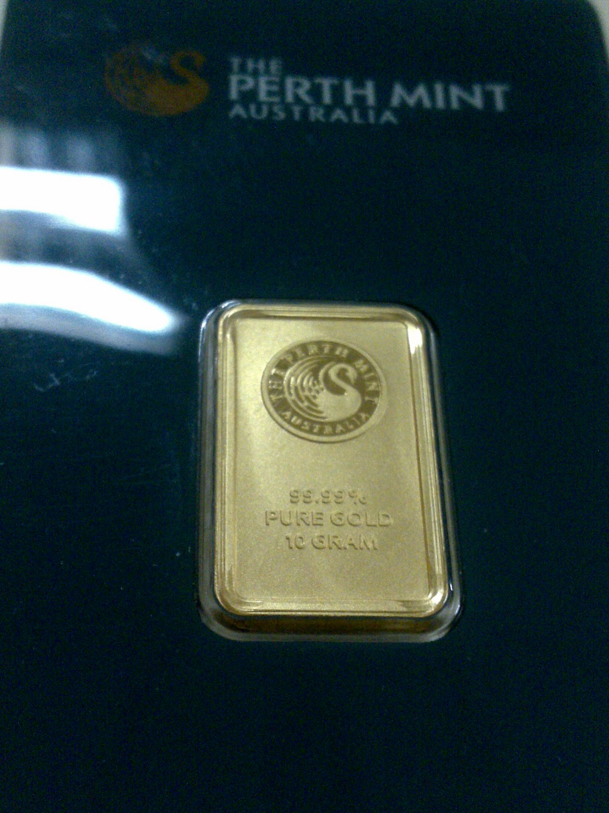 Emasunik2u 10 Gram Perth Mint Gold Bar