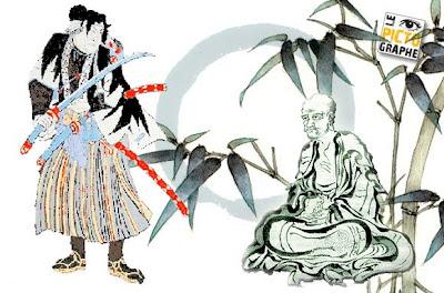 samurai+et+Hakuin+Ekaku