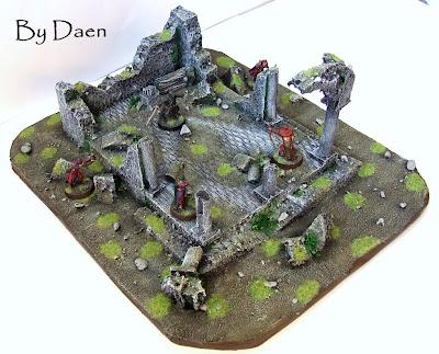 makieta ruin świątyni władca pierścieni