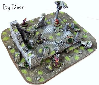 makieta bitewna ruiny świątyni