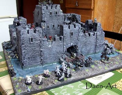 ruiny zamku makiety do gier bitewnych