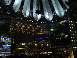 sony center nocą