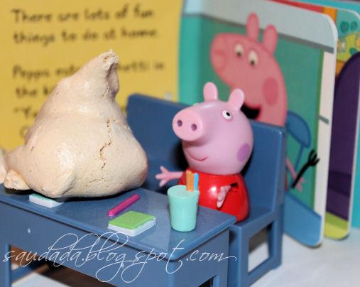 bezy migdałowe z migałami świnka Peppa