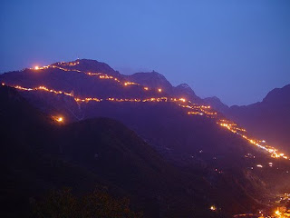 Beautiful Maa Vaishno Devi Hills in Night