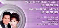 Hubungi kami untuk maklumat lanjut melalui Face Book Mahat Mohamed Amin