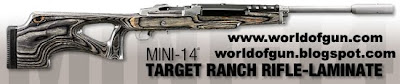 RUGER MINI-14 TARGET RANCH LAMINATE RIFLE