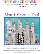 """LINE + COLOR = FUN"" ART LESSON PLAN.  22-PAGE PDF BOOKLET. $5"