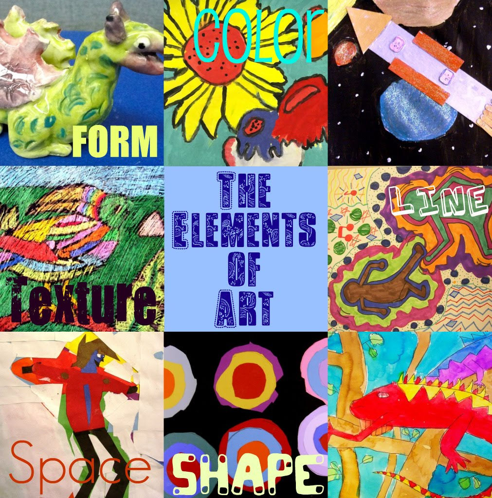 7 Elements Of Art : Deep space sparkle art lessons for kids create your own