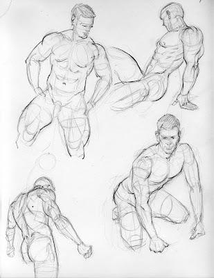Male porn sketch