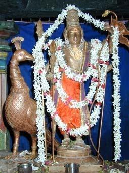 Murugan with bow and arrow, Thiruvaiyaru