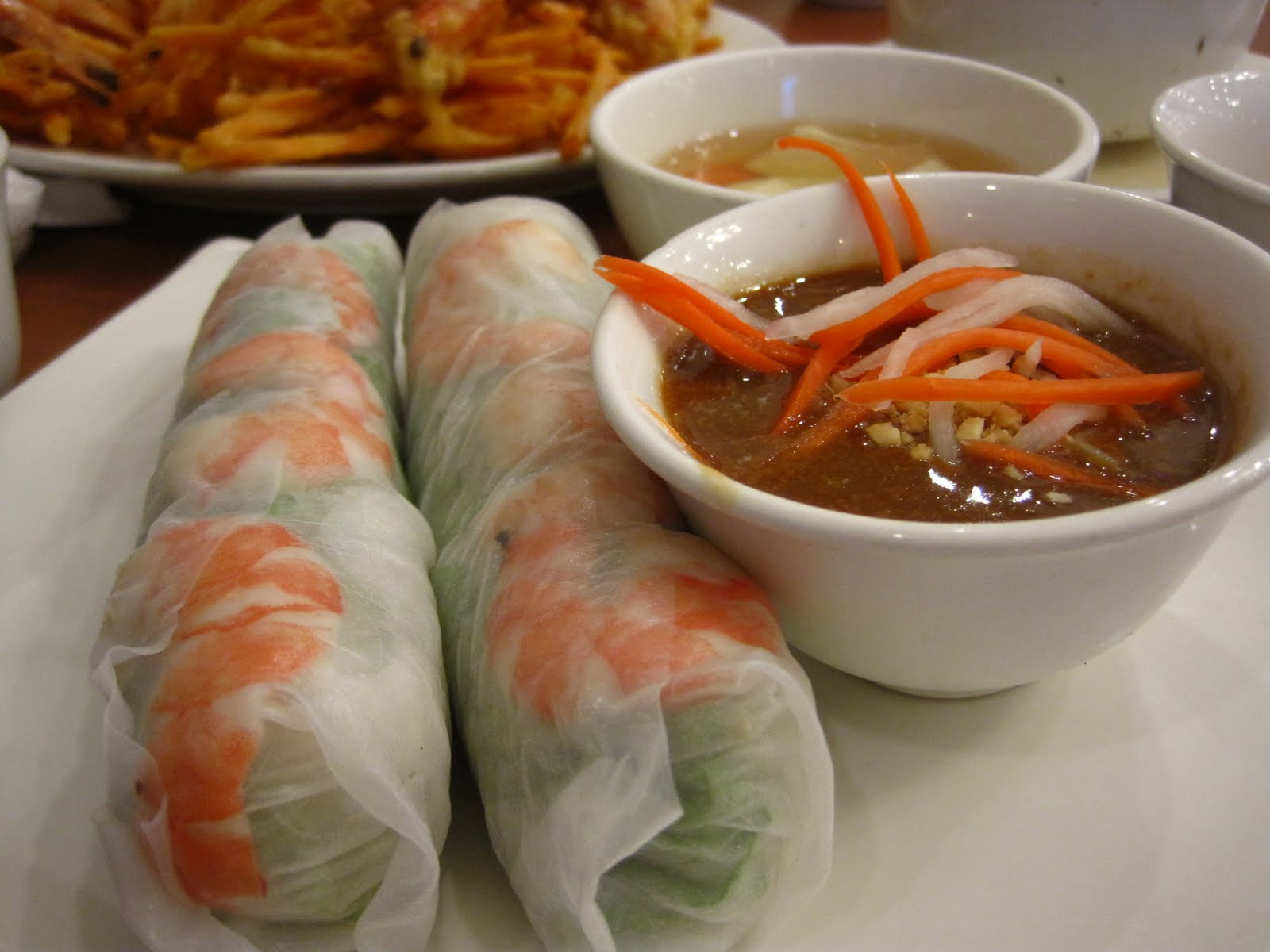 Vietnamese Spring Roll Dipping Sauce Typical Vietnamese spring