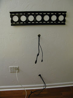 Florida coal cracker chronicles installing a tv wall mount for How to fish wire through insulated wall