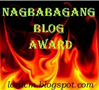NAGBABAGANG AWARD FROM LORDCM