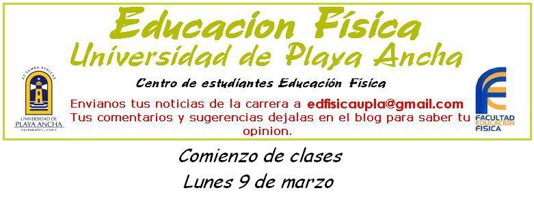 CEE pedadogia en Educación Física >Universidad de Playa Ancha< Upla.  Chile
