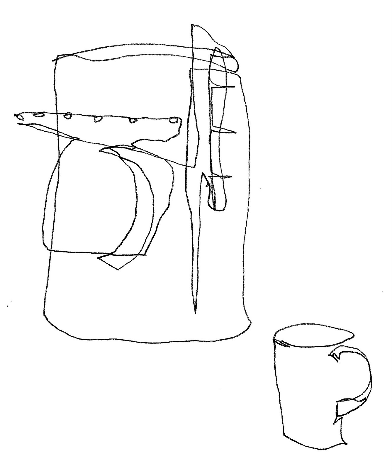 Contour Line Drawing Books : The quotidian journal coffee is on