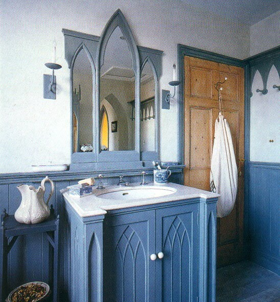 Gothic vanity on pinterest gothic furniture gothic for Gothic bathroom ideas