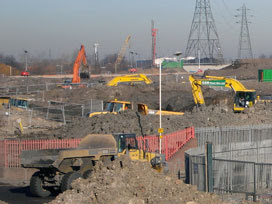 Olympic Stadium site - February 2008