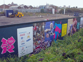 Olympic branded wall