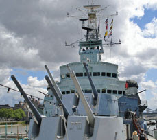 HMS Belfast (from the fo'c'sle)