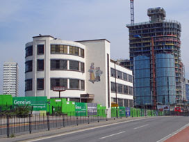 Yardley factory (and the Athena building rising behind