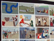 Isle of Dogs historical tapestry