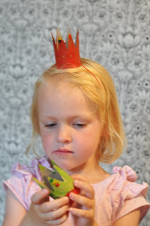 recycling paper:  little princess crown tutorial