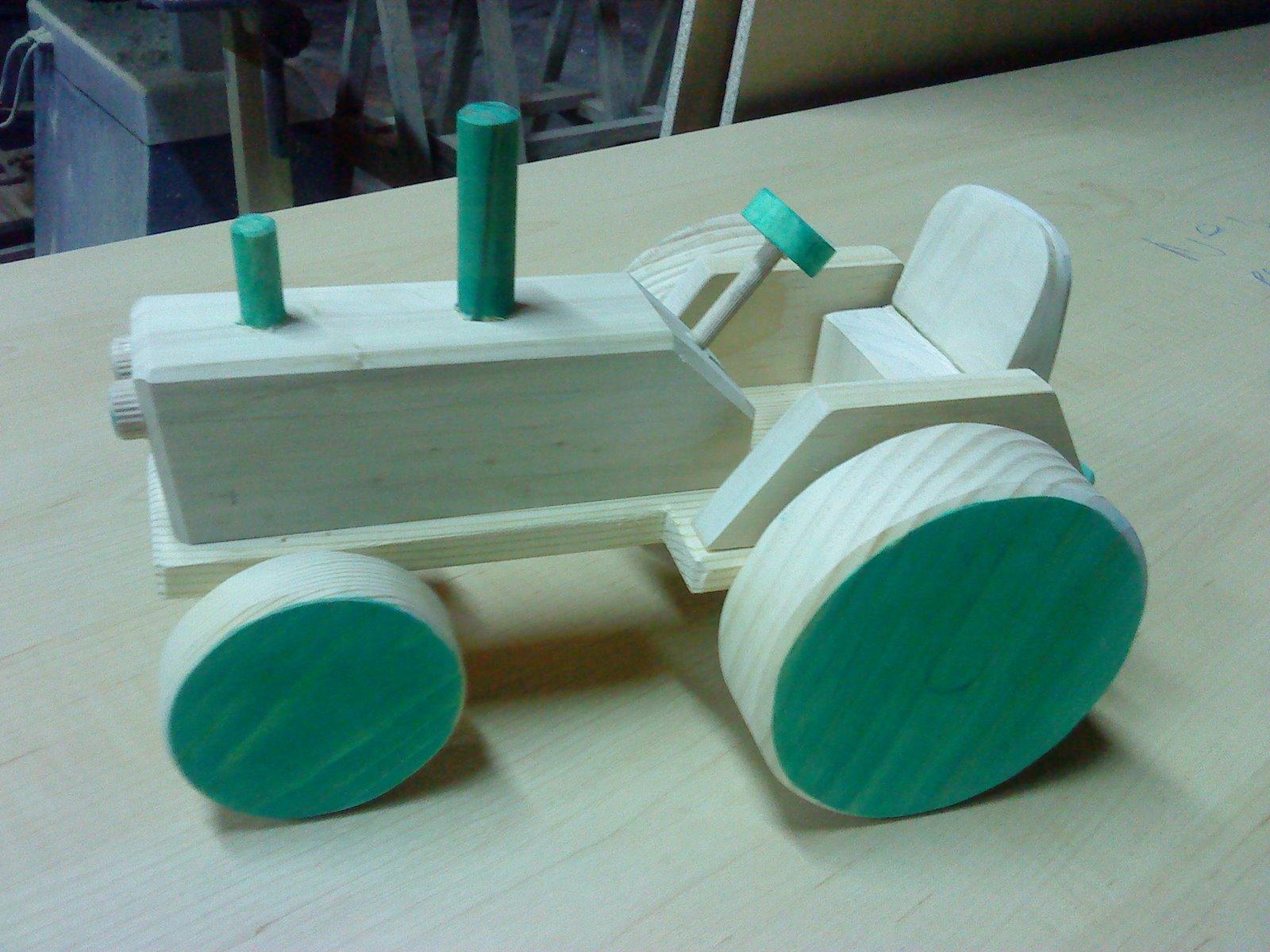 Mas juguetes de madera tractor - Jugueteros de madera ...