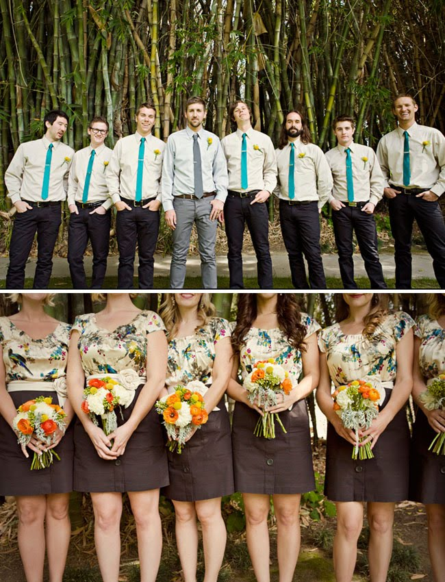 Tulips and tea the coolest wedding party in town for Casual wedding party dresses