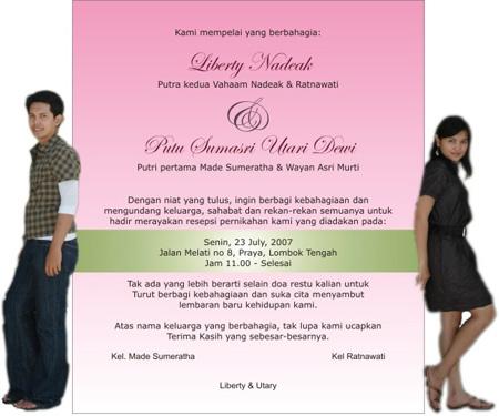 Kami juga menyediakan cetak undangan dengan berbagai desain menarik
