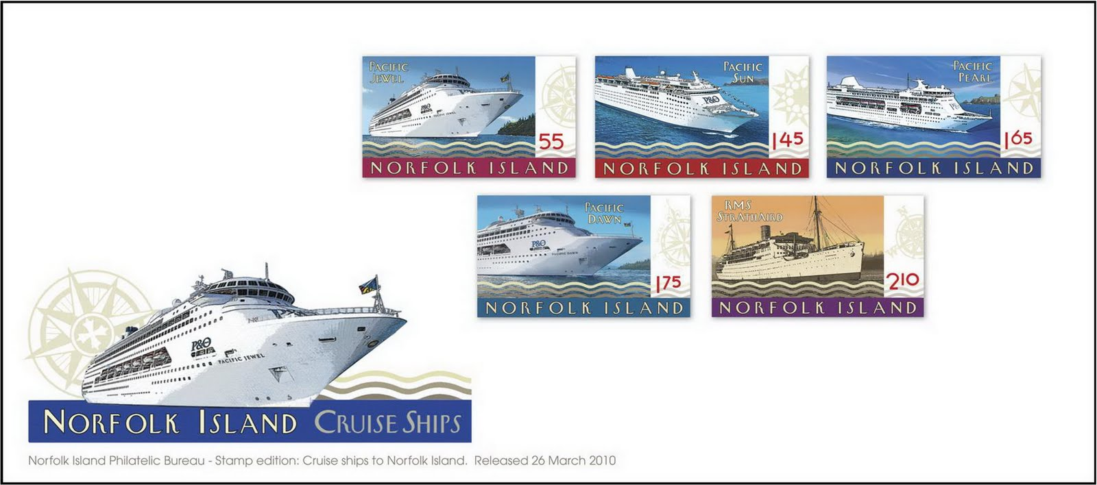PO Cruises Stamps Its Way Into The History Books On Norfolk Island - Norfolk cruises