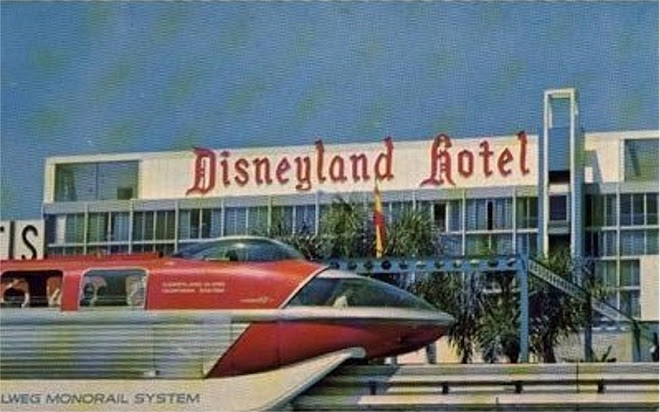 The Monorail Used To Stop Specifically At Disneyland Hotel Station However Original Buildings Are Long Gone And It S Part Of