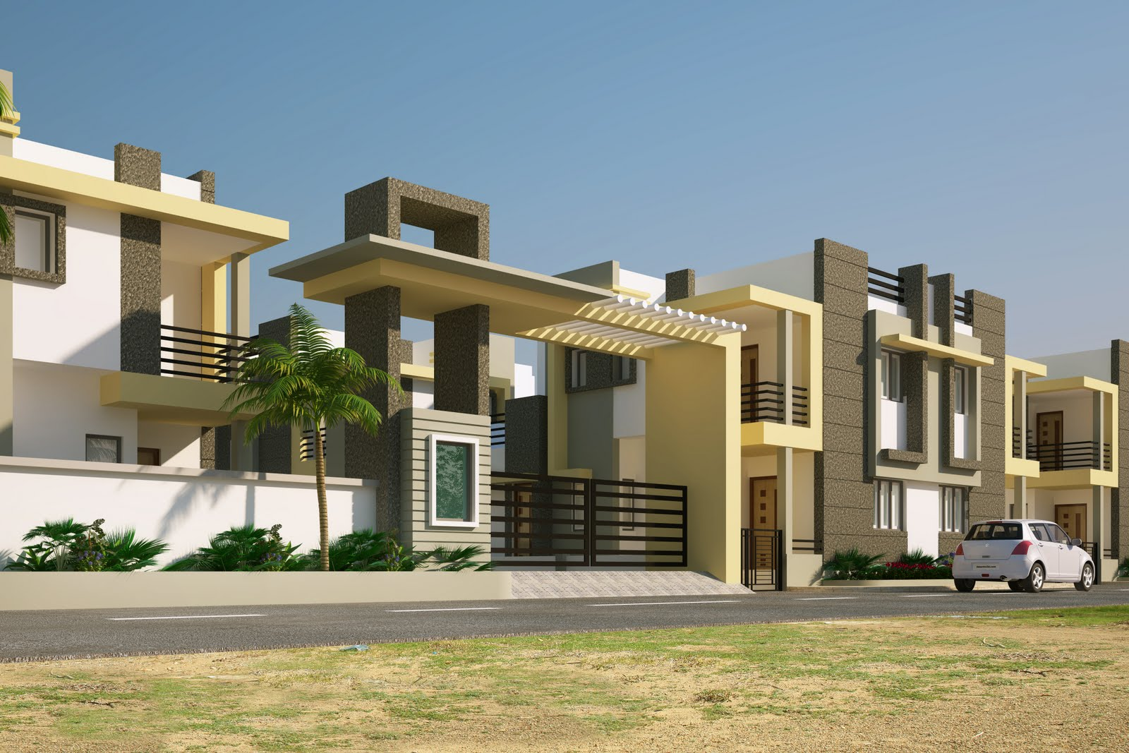 Pakistan Home Design Plans also Front Elevation Indian House Designs ...