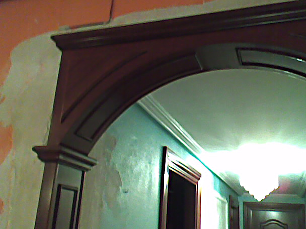 Arco decorativo pasillo Muebles Cansado Zaragoza Carpintero