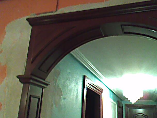 Arco decorativo pasillo muebles cansado zaragoza - Maderas para arcos ...