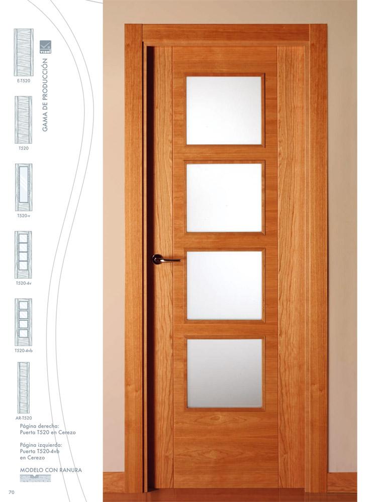 Puerta de interior t520 en cerezo visel artideco - Manillas para puertas de interior ...