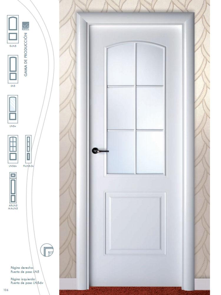Puerta de interior lacada en blanco ln5 visel artideco - Puertas de interior ofertas ...