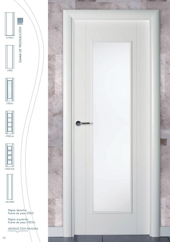 Puerta de interior lacada en blanco lt520 visel - Puertas lacadas blancas precios ...