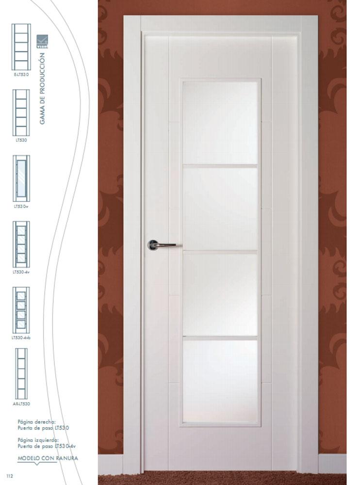 Puerta de interior lacada en blanco lt530 visel - Puertas lacadas blancas precios ...