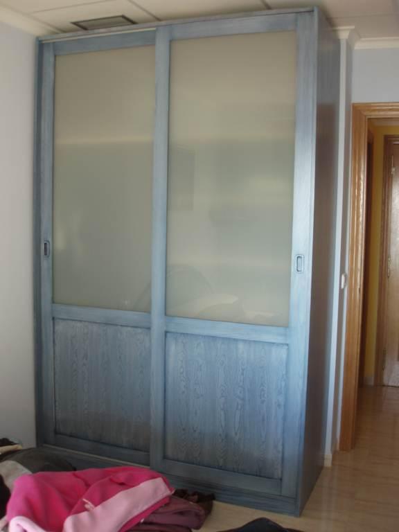 Armario dormitorio con puertas correderas de cristal - Armario dormitorio puertas correderas ...