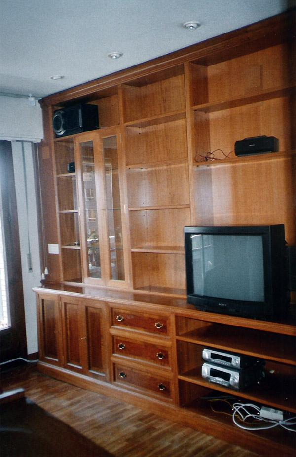 Librer a sal n en madera de haya muebles cansado - Restauracion muebles zaragoza ...