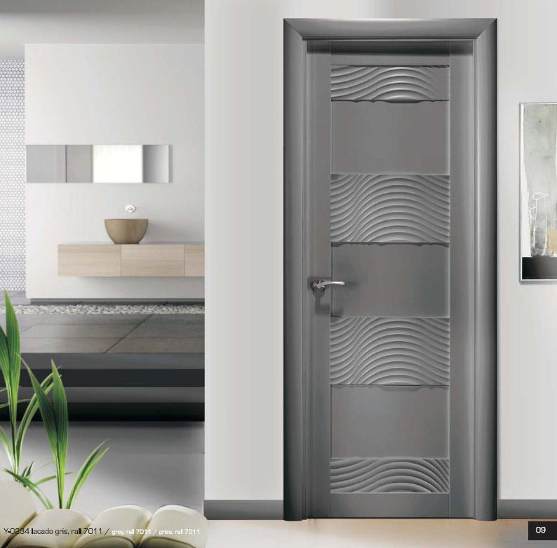 Puerta y 0234 infinity lacado gris aretevi artideco for Puertas de interior modernas precios