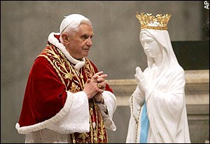 Pope Benedict and Mary