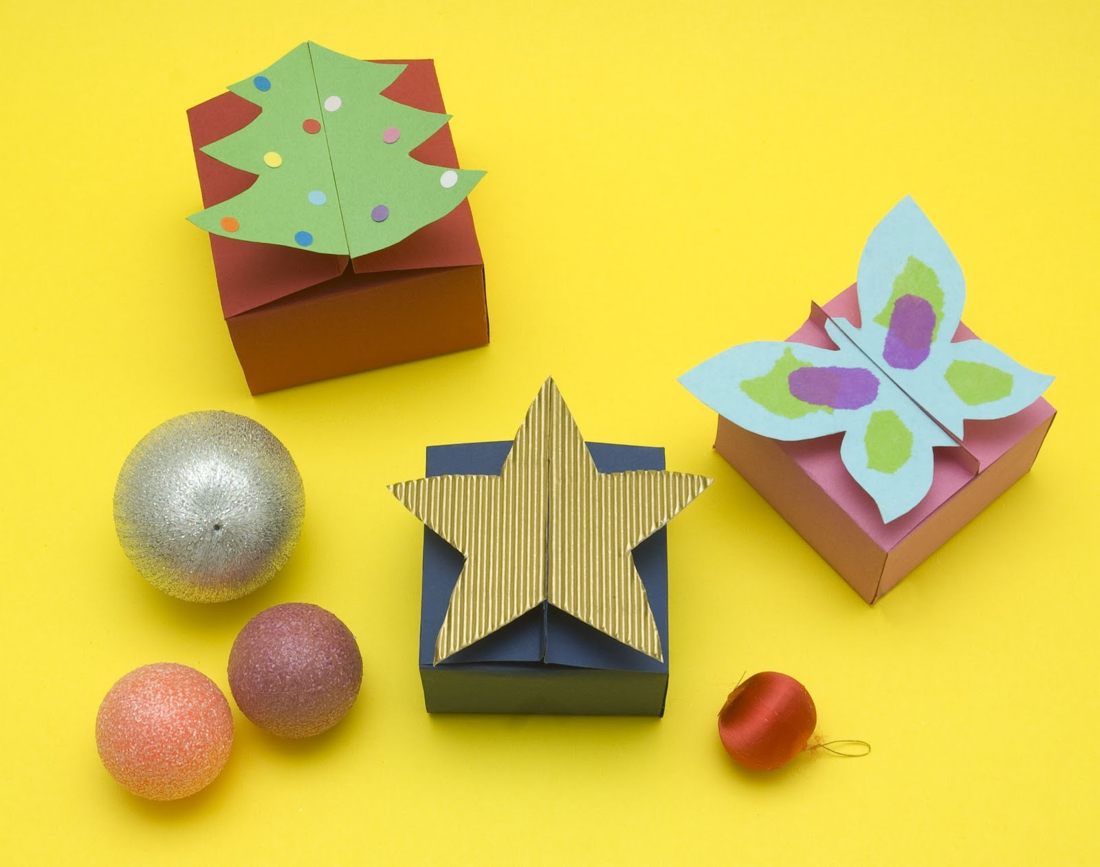 Unas originales cajas para regalo que se hacen en un