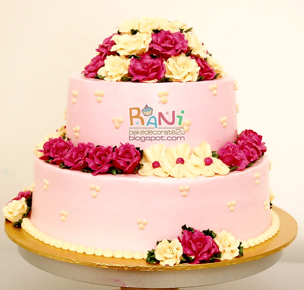 Rani Canglun Delights: .:.wedding cake + cupcakes ...
