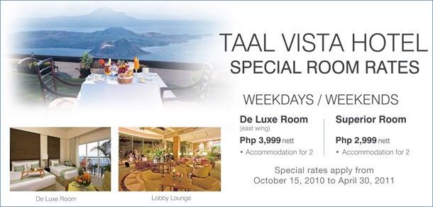 Taal Vista Room Rates