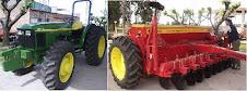 Tractor y sembradora