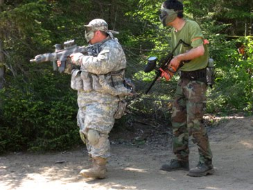 how to set up paintball netting