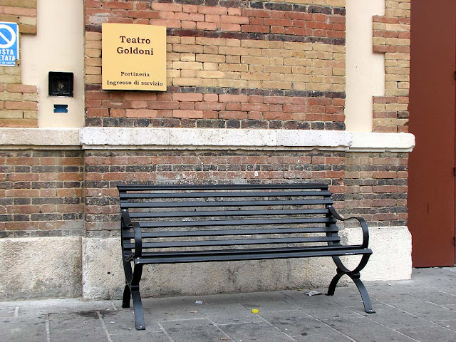 Bench outside the Teatro Goldoni, Livorno