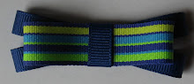 Blue/Green Rainbow Double Layer Bow