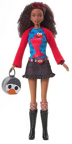 Elmo Barbie ~ I love that this doll's hair has a natural, wavy ...